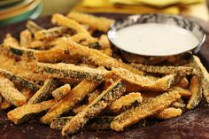 "Baked Panko Coated Zucchini ""Fries"""