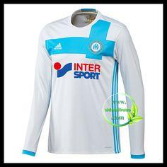 Fotballdrakter Olympique de Marseille Langermet Hjemmedraktsett 2016-2017 Inter Sport, Sweatshirts, Sports, Sweaters, Fashion, Hs Sports, Moda, Pullover, Sport
