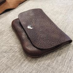 Another custom item! A wallet with a zip pocket.  #handmade #custom #bespoke #leather #making #leathergoods #makersmovement #makersgonnamake #bags #wallet #pouch