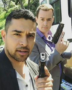 Two special agents on a mission.