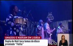 """A dupla do Mali Amadou e Mariam está em Portugal para um concerto no Coliseu dos Recreios, em Lisboa. Vão apresentar os temas do álbum """"Folilá"""" e falam da paz no Mali. (RTP - 26/04/2013)"""