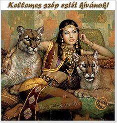 New mosaic full laid diamond painting embroidery beads Beauty foreign girl beads cross stitchkit animal handwork. Indian Art Paintings, European Paintings, Fantasy Kunst, Fantasy Art, Painting Digital, Egyptian Art, Egyptian Mythology, Deviant Art, Native American Art