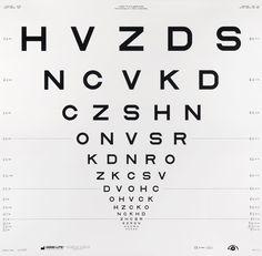 "nevver:  "" A short history of eye chart typography.  """