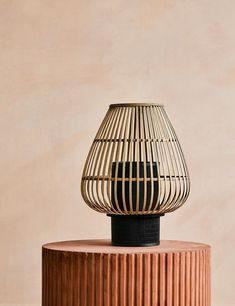 Bamboo and Iron Table Lamp