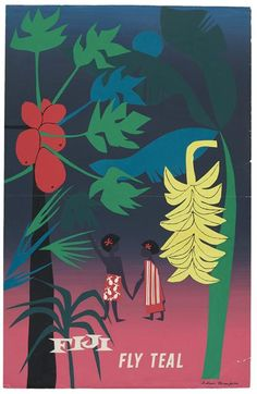 This awesome vintage travel poster is printed on super high quality glossy photo paper. It's roughly sized and can be laminated if that's your thing, otherwise it would suit framing or whatever. Art Nouveau, Tourism Poster, Cool Posters, Graphic Posters, Tropical Colors, Illustrations, Modern Art Prints, Vintage Travel Posters, Map Art