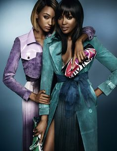 Naomi and Jourdan Dunn for Burberry  Spring/Summer 2015  Photographed by Mario Testino