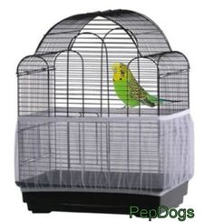 Prevue-SEED-CATCHER-Seed-Guard-Mesh-Bird-Cage-Cover-Skirt-Traps-Cage-Debris