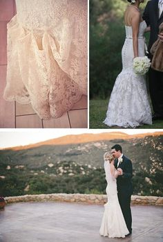 English bustles: There are a couple of types of bustles–English bustles pick-up and pin on the outside of the skirt, while French bustles tie under the skirt, creating a bubble effect. Wedding Looks, Dream Wedding, Wedding Inspiration, Wedding Ideas, Wedding Stuff, I Dress, Lace Dress, French Bustle, Wedding Dress Bustle