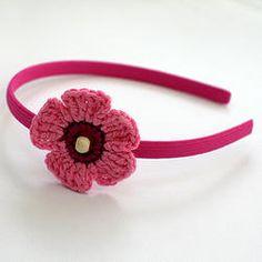 Crochet Flower Hairband - TWIN PACK