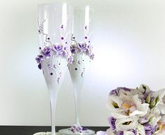 Hey, I found this really awesome Etsy listing at https://www.etsy.com/listing/161752726/beautiful-hand-decorated-purple-wedding