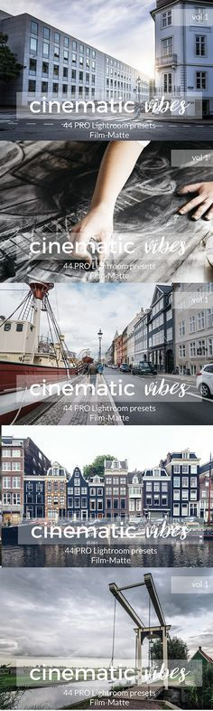 Cinematic Vibes Lightroom Presets. Vol 1 — LRTemplate #cinematic presets #film • Available here → https://graphicriver.net/item/cinematic-vibes-lightroom-presets-vol-1/19695554?ref=pxcr