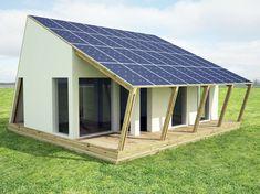 solar decathlon on Behance Solar Panel Kits, Solar Panels For Home, Best Solar Panels, Advantages Of Solar Energy, Solar Roof, Solar House, Passive House, Little Houses, Building Design