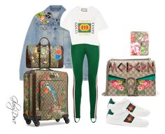 """""""FASHION AIRPORT STYLE"""" by chichimia on Polyvore featuring Gucci"""