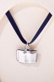 Sterling Silver Open Book Charm from Oxford