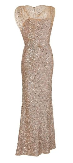 Out of all the full length sparkle ones, this is my favorite because it seems more subtle. champagne bridesmaid/cocktail dress
