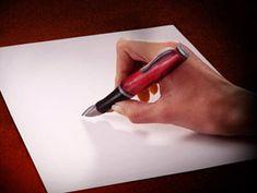 Finger Pen Optical Illusion - http://www.moillusions.com/finger-pen-optical-illusion/