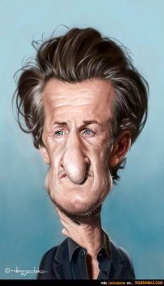 Caricatura de Sean Penn.  ~ Ʀεƥɪииεð вƴ╭•⊰✿ © Ʀσxʌиʌ Ƭʌиʌ ✿⊱•╮