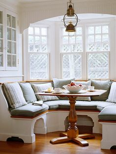 Kitchen-Built In Banquette - I like that the base looks more like furniture
