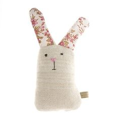Floral Knitted Rabbit Dog Toy