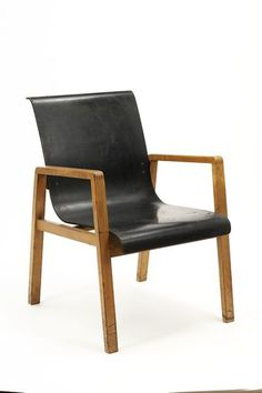 Armchair | Designed in Finland, 1931, by Alvar Aalto | Materials: solid birch wood, with laminated birch plywood panel moulded to provide a combined seat and back | This chair was originally designed for the veranda of the Paimio Sanatorium, an isolation hospital for tuberculosis patients in Turku, Finland that Aalto began designing in 1929 and which was completed and furnished in 1933 | VA Museum, London