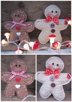 mingle-mangle-crochet: gingerbread man...♥ Met link naar patroon