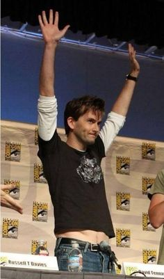 David Tennant <--- when I heard he was coming back for the 50th<---amen to that!