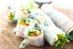 5 recettes healthy de rouleaux de printemps