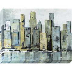 1-Piece 30-In W X 40-In H Frameless Canvas Cityscape Print Wall Art 16