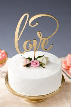 Love wedding cake topper by Better Off Wed on Etsy #caketopper