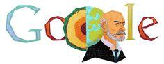 Andrija Mohorovičić's 156th Birthday [156 лет со дня рождения Андрея Мохоровичича] /This doodle was shown: 23.01.2013 /Countries, in which doodle was shown: Croatia