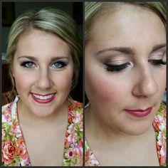 Bridal makeup. Dallas brides. Makeupbywendyzerrudo.com  MAC cosmetics used. Berry lips. Gold shimmer for eyes.