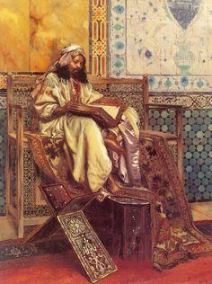 Lienzo de Rudolf Ernst (1854-1932) Lectura del Corán
