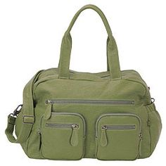 Faux Green Buffalo Carry All Diaper Bag Tote by Oi Oi - http://www.247babygifts.net/faux-green-buffalo-carry-all-diaper-bag-tote-by-oi-oi/