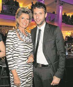 CSU-Bundestagsabgeordnete Dagmar Wöhrl mit ihrem Sohn Marcus, der 2004 und 2009 erfolglos für das Europaparlament kandidierte.