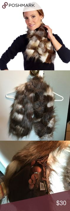 Joan Rivers pull through, faux fur scarf Joan Rivers faux fur, pull through scarf. Very soft. Never worn. New without tags. Joan Rivers Accessories Scarves & Wraps