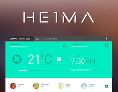 HEIMA is a smart home user interface. It is a project I did for my honours degree at UCLAN. The idea was to create an easy to use, BS-free and intuitive interface that would control all of your connected appliances and act as a smart home hub. PS I apol…