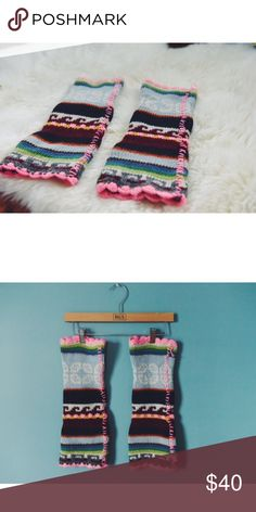Free People Knit Leg Warmers - DISCONTINUED Debated on listing these rare babies bc of how unique they are. This was back in the day when Free People's items had more quality imo. These wonderful leg warmers are handmade and will keep you warmer that your typical commercial product. The vibrant colors and chunky knit are what capture me. Would love to see these in a good home that will rock these more than I had a chance to 💝 Worn once - Mint Condition. Great  holiday gift!! Price is firm…