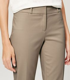 Riviera Cropped Pants in Julie Fit - Beech Color
