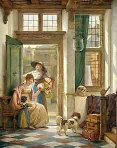 Abraham van Strij (1753–1826), A Cherry Vendor at the Door, 1816. Rijksmuseum, Amsterdam.