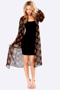 If you want to try something new this year I love this long kimono. It has a great fall look and the colors are perfect for Thanksgiving! Throw it over a long sleeve shirt and jeans to give your outfit a little extra umph.