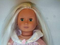 "18"" BATTAT DOLL LONG BLONDE HAIR GREEN EYES OUR GENERATION DISNEY  DRESS SHOES #DollswithClothingAccessories"