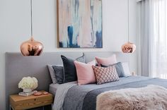 Pink and Grey   Bedroom Color Schemes: 15 Fabulous Ways To Mix Colors