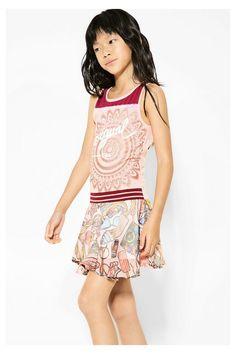 Vestido Desigual rosa con estampado vintage - Cairo #circulogpr #desigual #fashion #modainfantil