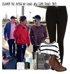 """Leaving the Arena w/ Louis and Zayn (louis' girl)"" by flowercrown-stylinson ❤ liked on Polyvore featuring Topshop, With Love From CA, Burberry, NARS Cosmetics, Maybelline, Essie, Breckelle's, NLY Accessories, modern and only12"