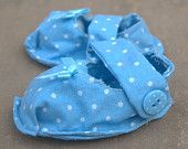 Blue spotty soft shoes
