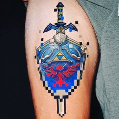Amazing tattoo from Tag a friend who needs to see this and don't forget to tag us in your gamer tattoos! Gamer Tattoos, Anime Tattoos, Badass Tattoos, Body Art Tattoos, Sleeve Tattoos, Tatoos, Geisha Tattoos, Wicked Tattoos, Irezumi Tattoos