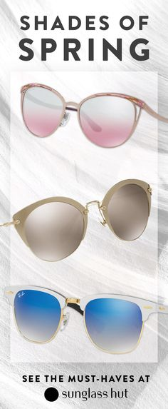 No matter what your favorite color is, Sunglass Hut has a pair of shades with vivid lenses for you this spring. From softer palettes of pink to a bolder blue lense, there is something new waiting for you to try. Find exclusive styles and see the must-have looks and colors from Miu Miu to Ray-Ban all in one place.