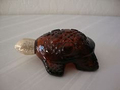 old perfumes from the 70's | Vintage 70's Avon Amber Glass Tortoise Turtle Perfume Cologne Bottle ...