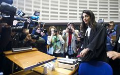 The human rights lawyer, Amal Clooney, representing Armenia, criticized Turkey's double standards on freedom of expression.