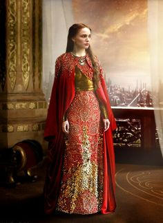 Asgard fashion. Just like this except green,  and gold or tardis blue and silver